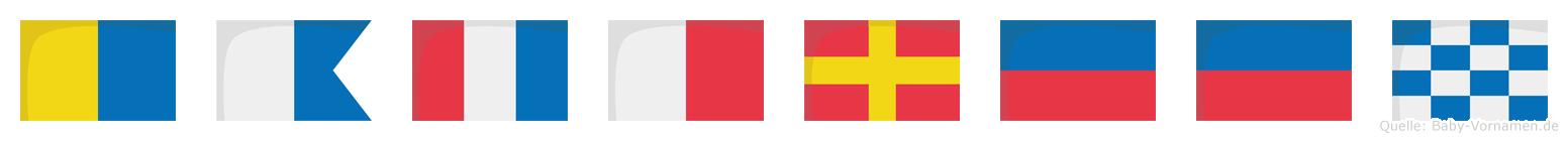 Kathreen im Flaggenalphabet