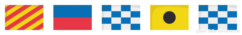 Yenin im Flaggenalphabet