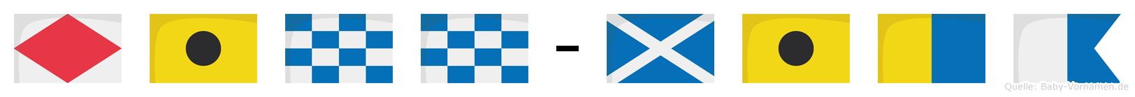 Finn-Mika im Flaggenalphabet