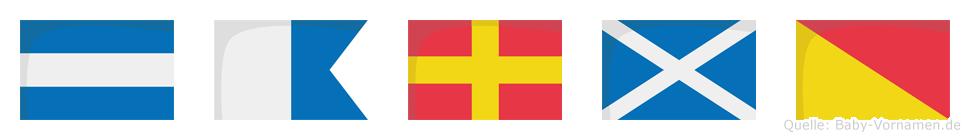 Jarmo im Flaggenalphabet