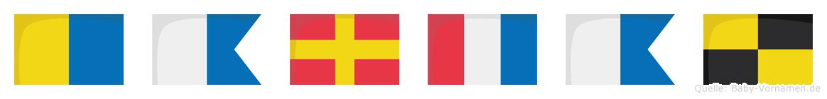 Kartal im Flaggenalphabet