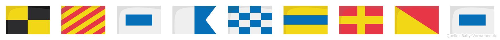 Lysandros im Flaggenalphabet