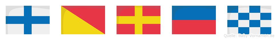 Xoren im Flaggenalphabet