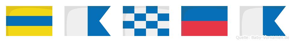 Danea im Flaggenalphabet