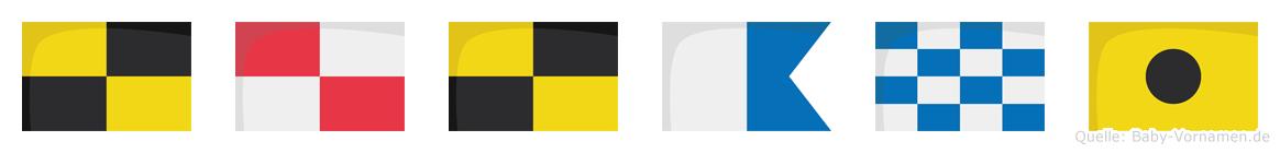 Lulani im Flaggenalphabet