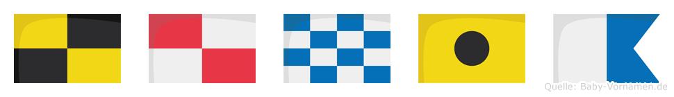 Lunia im Flaggenalphabet