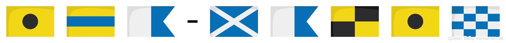 Ida-Malin im Flaggenalphabet
