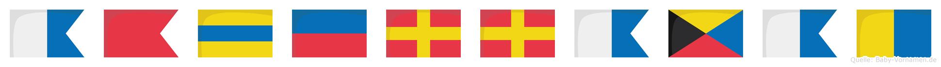 Abderrazak im Flaggenalphabet