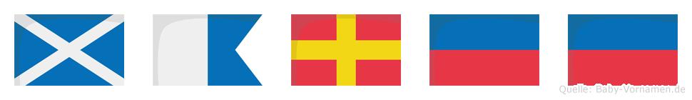 Maree im Flaggenalphabet