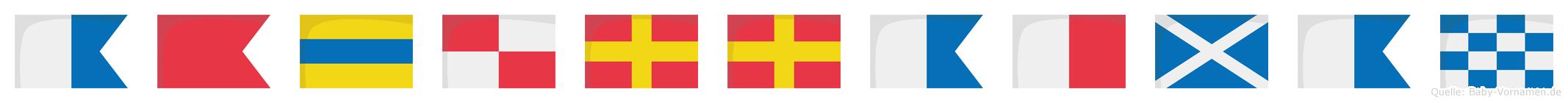 Abdurrahman im Flaggenalphabet