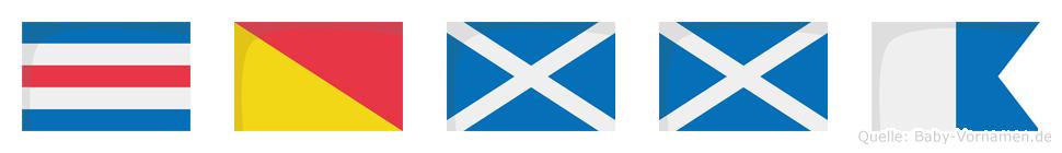 Comma im Flaggenalphabet