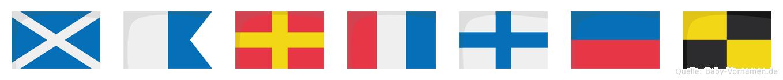 Martxel im Flaggenalphabet