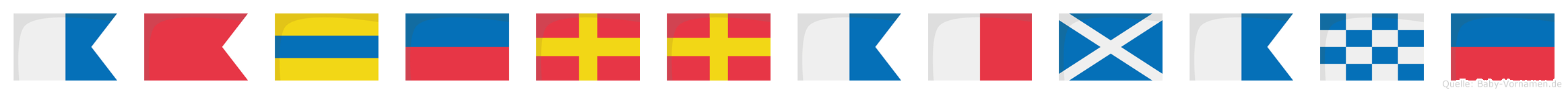 Abderrahmane im Flaggenalphabet