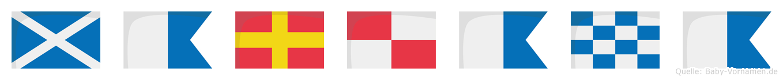 Maruana im Flaggenalphabet
