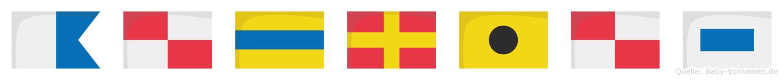 Audrius im Flaggenalphabet