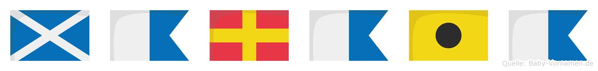 Maraia im Flaggenalphabet