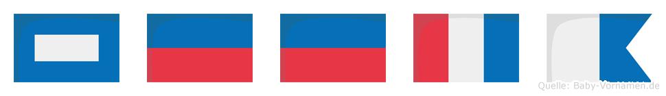 Peeta im Flaggenalphabet