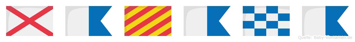 Vayana im Flaggenalphabet