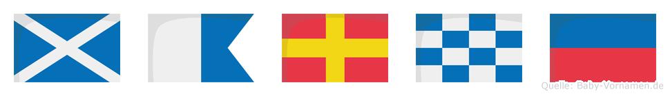 Marne im Flaggenalphabet