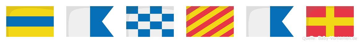 Danyar im Flaggenalphabet