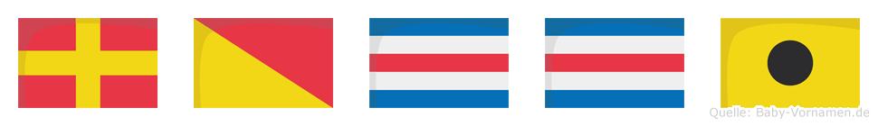 Rocci im Flaggenalphabet