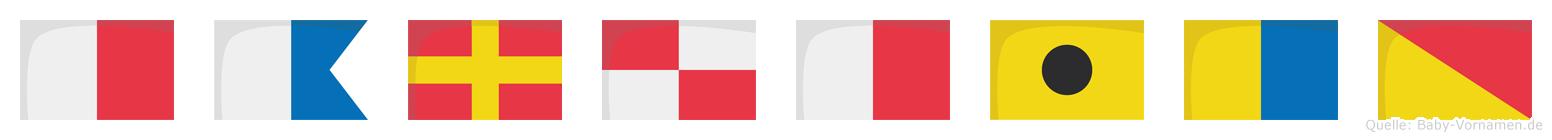 Haruhiko im Flaggenalphabet