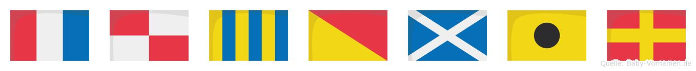 Tugomir im Flaggenalphabet