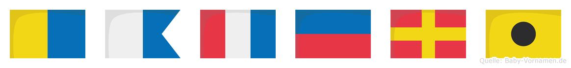 Kateri im Flaggenalphabet