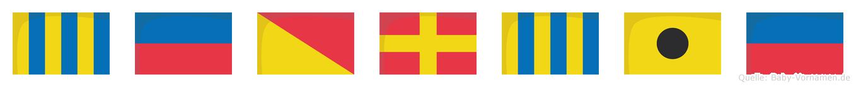 Georgie im Flaggenalphabet