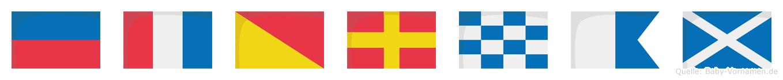 Etornam im Flaggenalphabet