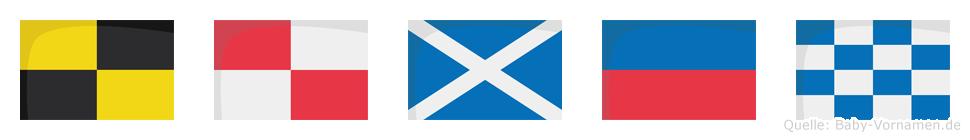 Lumen im Flaggenalphabet