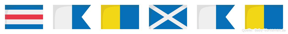 Cakmak im Flaggenalphabet
