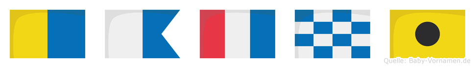 Katni im Flaggenalphabet