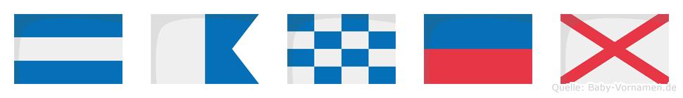Janev im Flaggenalphabet