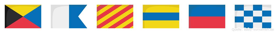 Zayden im Flaggenalphabet