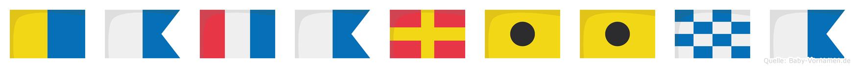 Katariina im Flaggenalphabet