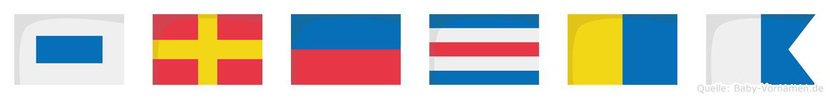Srecka im Flaggenalphabet