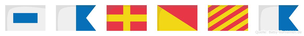 Saroya im Flaggenalphabet