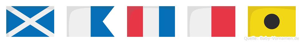 Mathi im Flaggenalphabet