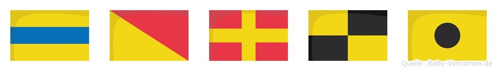 Dorli im Flaggenalphabet