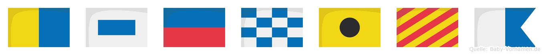 Kseniya im Flaggenalphabet
