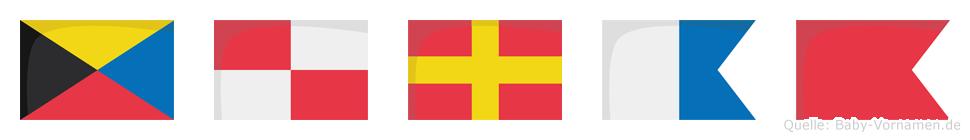 Zurab im Flaggenalphabet