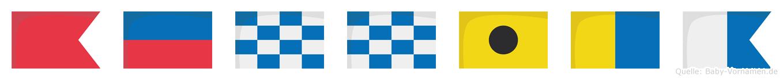 Bennika im Flaggenalphabet