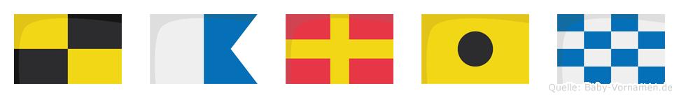 Larin im Flaggenalphabet