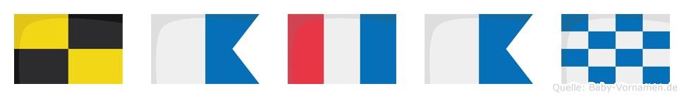 Latan im Flaggenalphabet