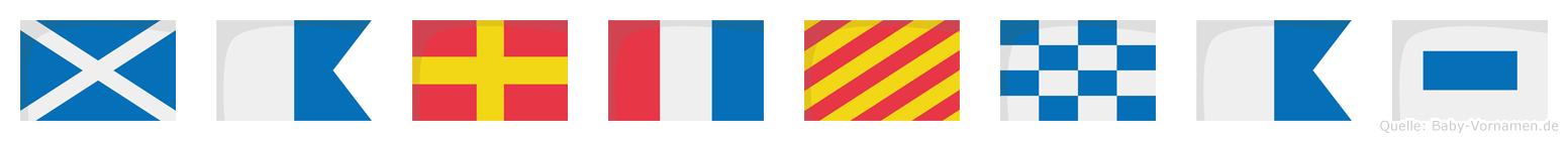 Martynas im Flaggenalphabet