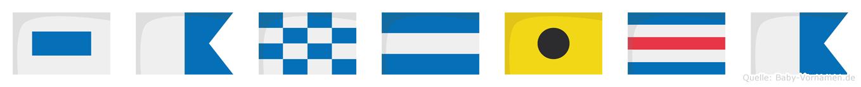 Sanjica im Flaggenalphabet