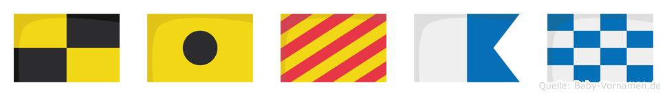 Liyan im Flaggenalphabet