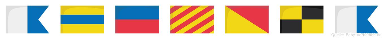 Adeyola im Flaggenalphabet