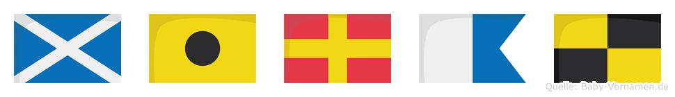 Miral im Flaggenalphabet